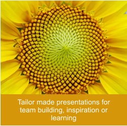 Tailor made presentations for team building, inspiration or learning